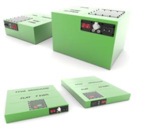 Gamme Flat et Kube TYVA Energie batteries destinées à la mobilité électrique