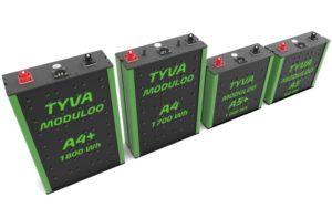 Gamme Moduloo Ax TYVA Energie batteries lithium 12 / 24 / 48 V